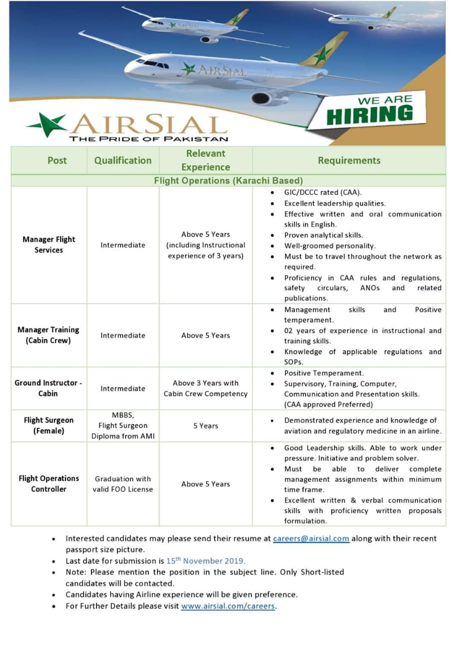 air sial jobs