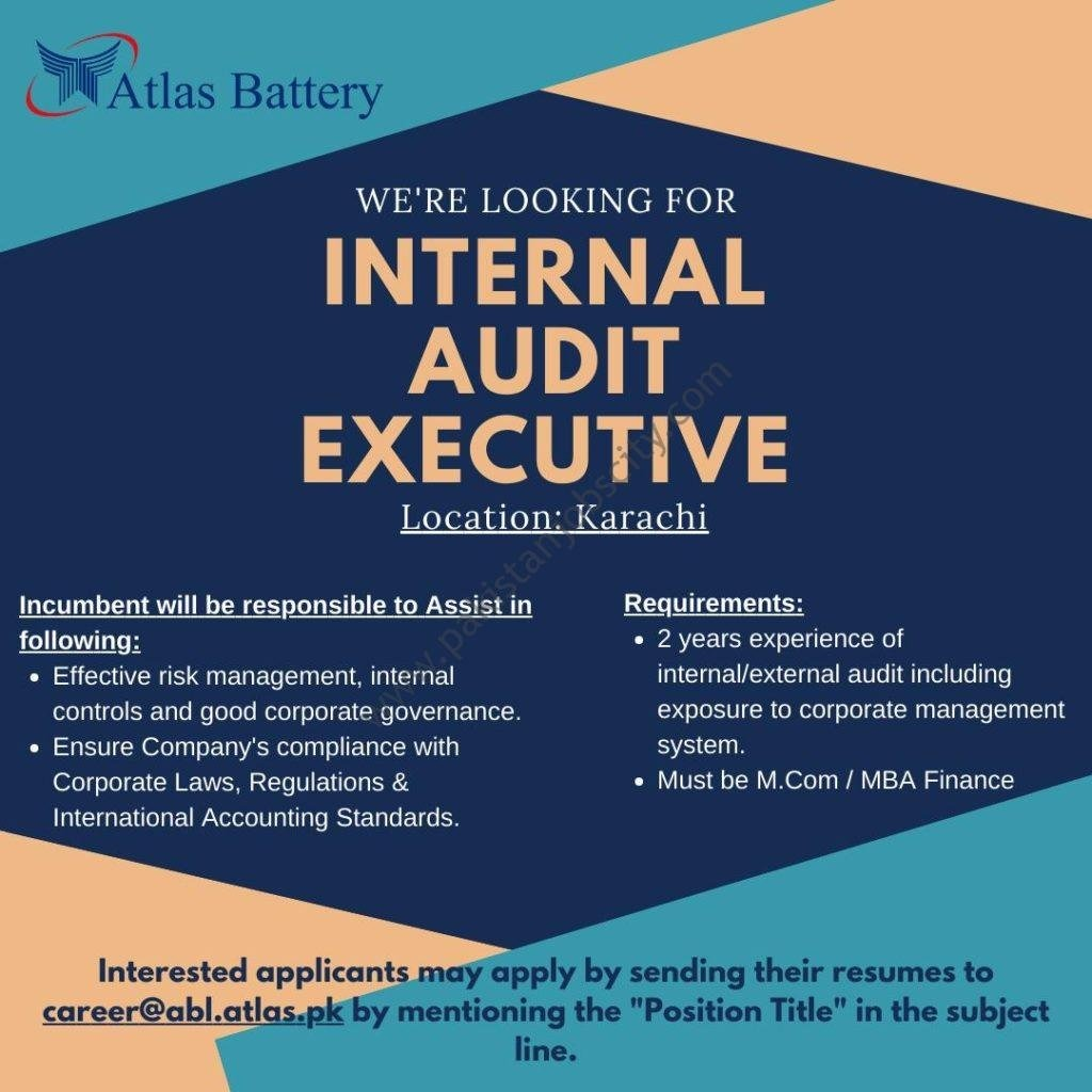 internal audit jobs atlas